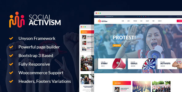 Download Social Activism - Non-Government Organization WordPress Theme Organization WordPress Themes