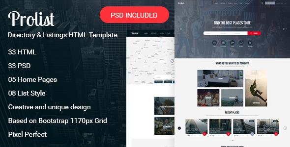Download Prolist - Directory & Listings HTML Template Directory Html Templates