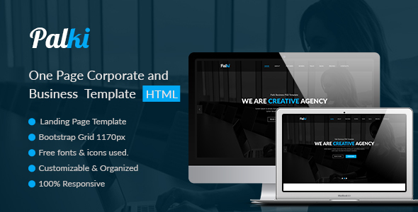 Download Palki One Page Corporate and Business Template Onepage Blogger Templates