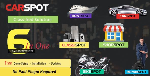 Download CarSpot – Automotive Car Dealer Wordpress Classified Theme Automotive WordPress Themes