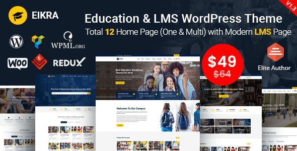 Download Eikra - Education WordPress Theme University WordPress Themes