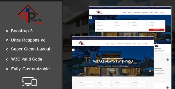 Download PropertyPress HTML Template Portal Html Templates
