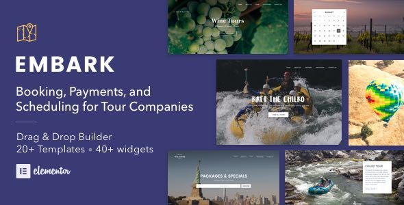 Download Tour Booking & Travel WordPress Theme - Embark Travel WordPress Themes