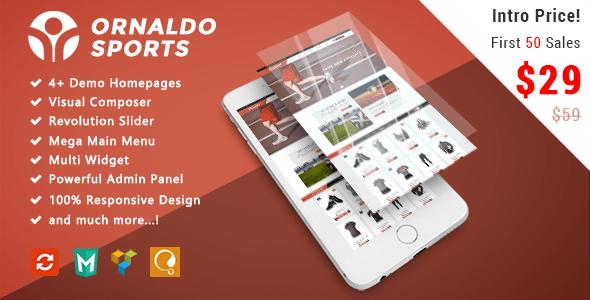 Download Ornaldo - Sport Responsive WooCommerce WordPress Theme Woocommerce WordPress Themes