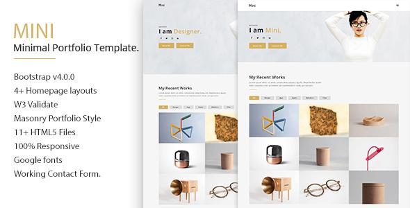 Download Mini Minimal Portfolio Template Clean Blogger Templates