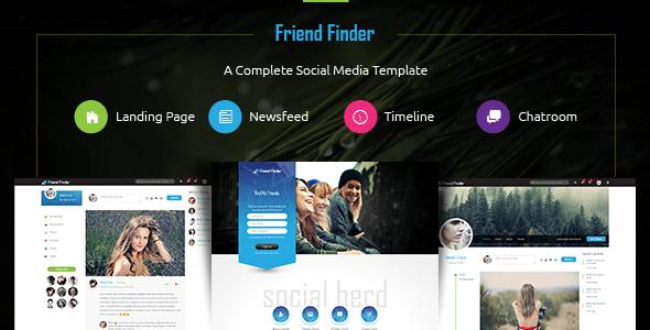 Download Friend Finder - Social Network HTML5 Template Pinterest Html Templates