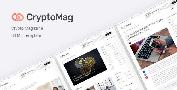 Download CryptoMag | Cryptocurrency Magazine HTML Template Fast Load Html Templates