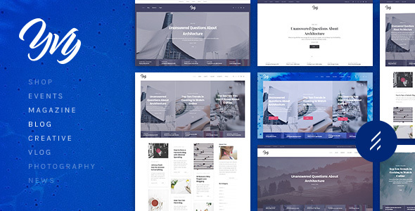 Download Yvy: A Stylish Blog/Magazine & Shop WordPress Theme Shop WordPress Themes