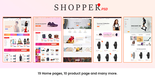 Download SHOPPER - Multipurpose eCommerce PSD Template Store Joomla Templates