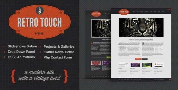 Download Retro Touch - Creative Portfolio Html Template Retro Html Templates