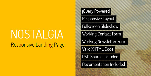 Download Nostalgia - Responsive Landing Page Retro Html Templates