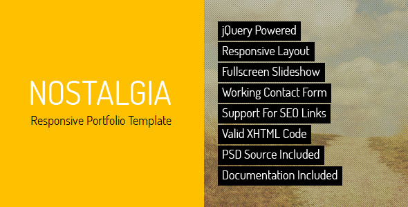 Download Nostalgia - Responsive Minimal Portfolio Template  Retro Html Templates