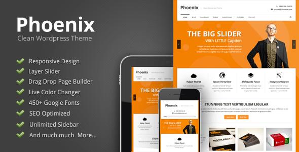 Download Phoenix - Clean Responsive Wordpress Theme Clean WordPress Themes