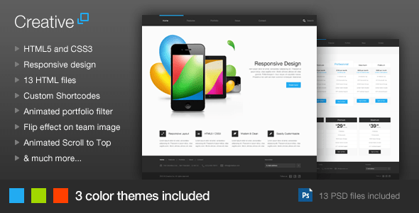 Download Creative - Responsive HTML Template Responsive Html Templates