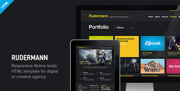 Download Rudermann - Responsive Retina Ready HTML Template Cute Html Templates