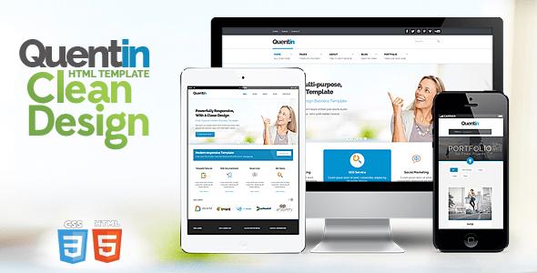 Download Quentin - Premium Multipurpose Responsive Template Pinterest Html Templates