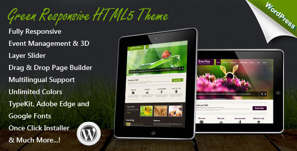 Download Green Responsive WordPress Theme Green WordPress Themes