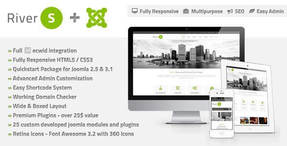 Download RiverS Responsive Multi-Purpose Joomla Template Blog Joomla Templates