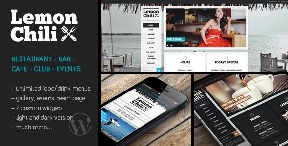 Download LemonChili - A Restaurant WordPress Theme Restaurant Wordrpess Themes