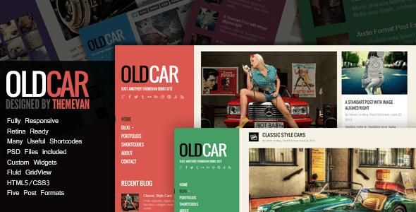Download OldCar - Responsive Blog & Grid WordPress Theme Grid WordPress Themes