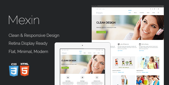 Download Mexin - Premium Multipurpose Responsive Template Pinterest Html Templates