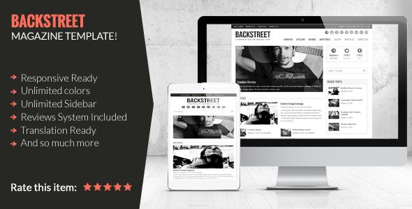Download Backstreet - Blog & Magazine Theme 3 Column WordPress Themes