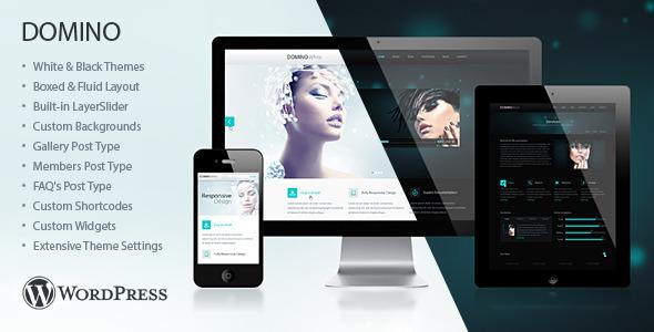 Download Domino Responsive WordPress Theme Black WordPress Themes