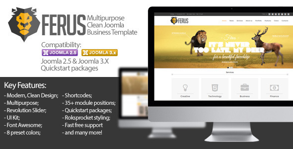 Download Ferus - Clean Responsive Multipurpose Joomla Theme Blog Joomla Templates