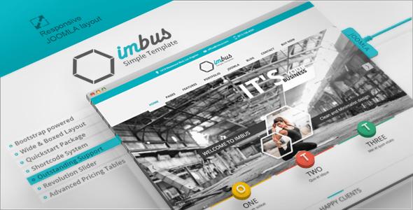 Download Imbus - Responsive Joomla Template Minimalist Joomla Templates