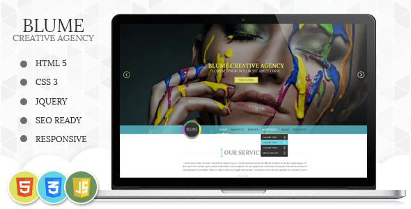 Download Blume Responsive HTML Template Blue Html Templates