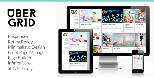 Download Ubergrid - Responsive Grid WordPress Theme Grid WordPress Themes