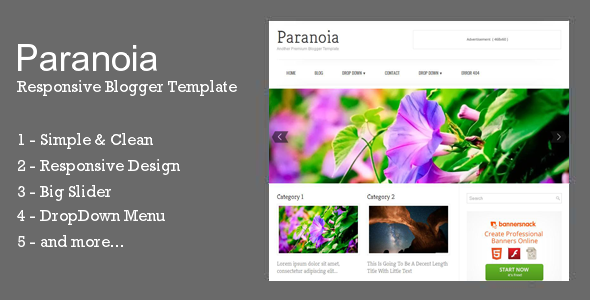 Download Paranoia - Responsive Blogger Template Responsive Blogger Templates