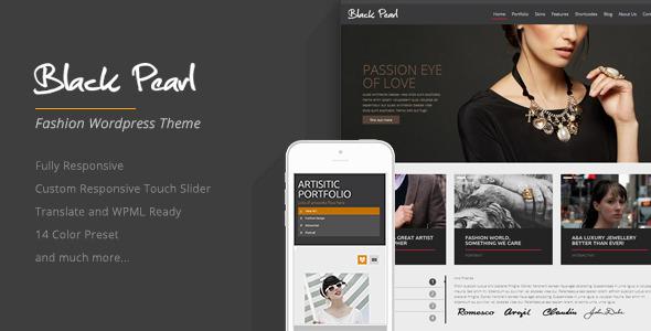 Download Black Pearl - Responsive Fashion WordPress Theme Black WordPress Themes