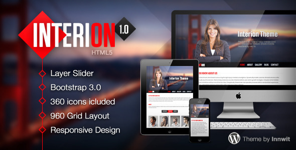 Download Interion - Responsive One Page HTML Template Interior Html Templates