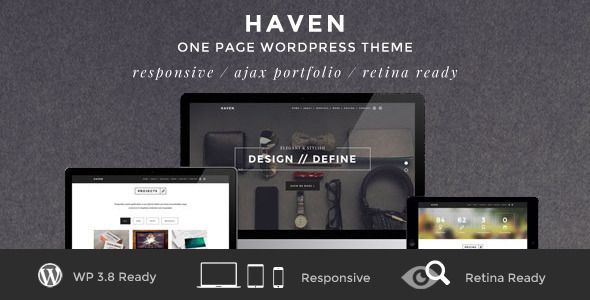 Download Haven - Elegant One Page WordPress Theme Youtube WordPress Themes