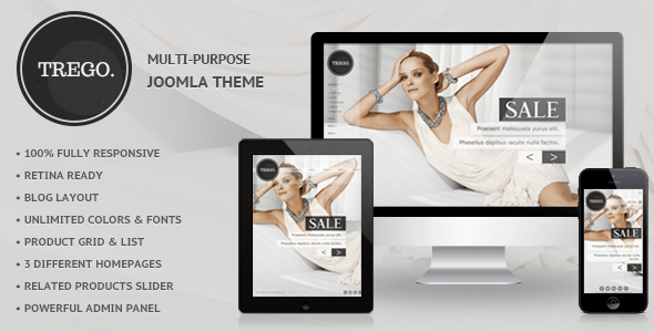 Download Trego - Premium Responsive Joomla Theme Store Joomla Templates