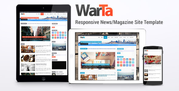Download Warta - News/Magazine Site Template Amazon Html Templates