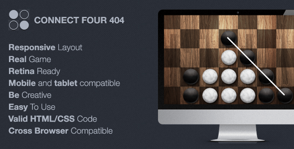 Download Connect Four 404 / Maintenance Game Html Templates