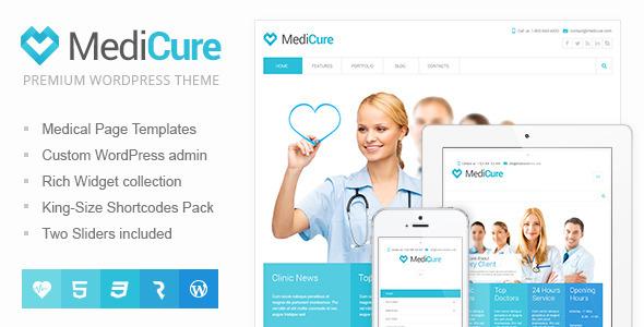 Download MediCure – Health  & Medical Wordpress Theme Hospital WordPress Themes