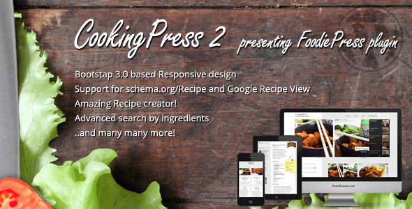 Download CookingPress - Recipe & Food WordPress theme Recipe WordPress Themes