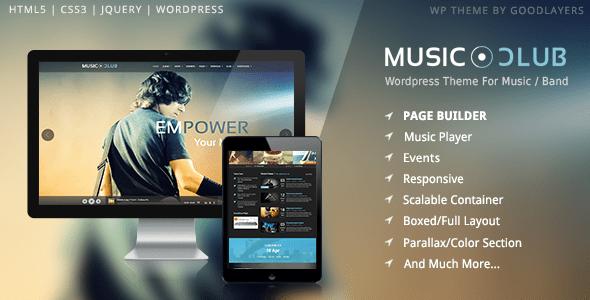 Download Music Club - Music/Band/Club/Party Wordpress Theme Radio WordPress Themes