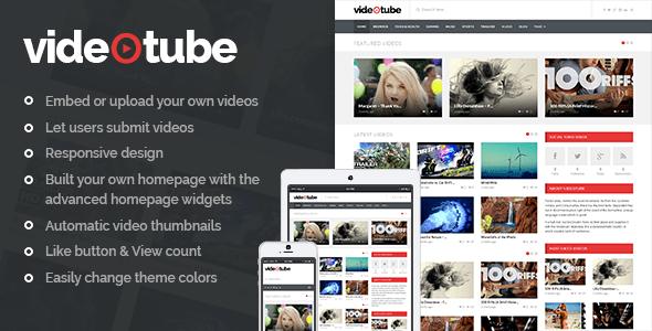 Download VideoTube - A Responsive Video WordPress Theme Movie WordPress Themes