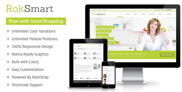 Download RokSmart - Responsive Multi-Purpose Joomla Theme Hospital Joomla Templates