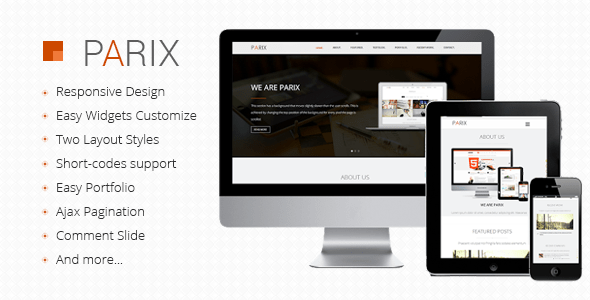 Download Parix - One Page Blogger Template Onepage Blogger Templates