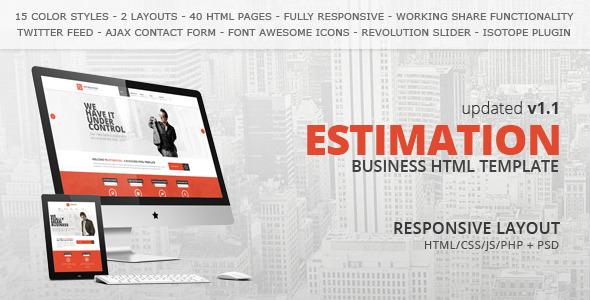 Download Estimation - Responsive Business HTML Template Business Html Templates
