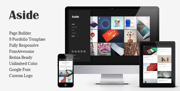 Download Aside - Photo Portfolio Sidebar WordPress Theme Photo Gallery Tumblr Themes