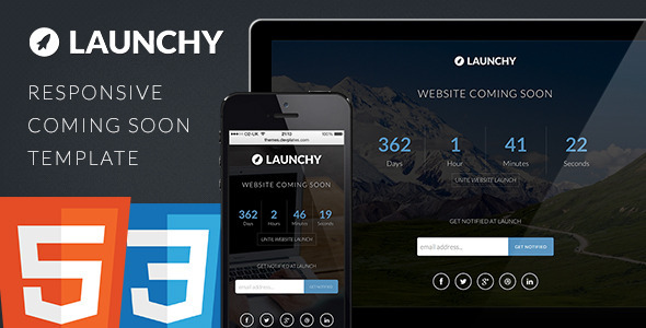 Download Launchy - Responsive Coming Soon Template Youtube Html Templates