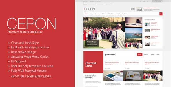 Download Cepon - News and Magazine Joomla Templates Portal Joomla Templates