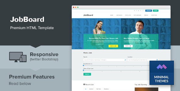 Download JobBoard - Responsive Job Market HTML Template Job Html Templates