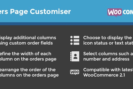orders page customiser inline